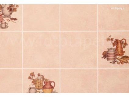 Dekorační obklad stěny - Kachličky - konev, mlýnek na kávu, doprodej