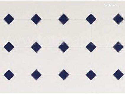 Dekorační obklad stěny - Kachličky - modré kosočtverce