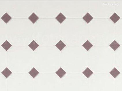 Dekorační obklad stěny - Kachličky - hnědé kosočtverce