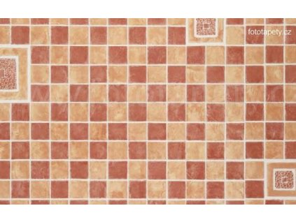 Dekorační obklad stěny - Kachličky - červená mozaika