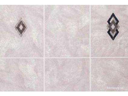Dekorační obklad stěny - Kachličky - hnědo fialové