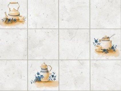 Samolepící folie d-c-fix imitace obkladaček - Konvičky šedé, rozměr obkladačky 9x9cm