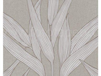 Vliesová tapeta na zeď Hygge, 0,53x10,05m, 3612-31 - hnědé listy