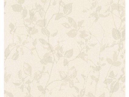 Vliesová tapeta na zeď Hygge, 0,53x10,05m, 3639-74 - béžové listy