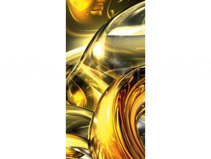 Jednodílná vliesová fototapeta Zlaté víření, rozměr 110x220cm, S516