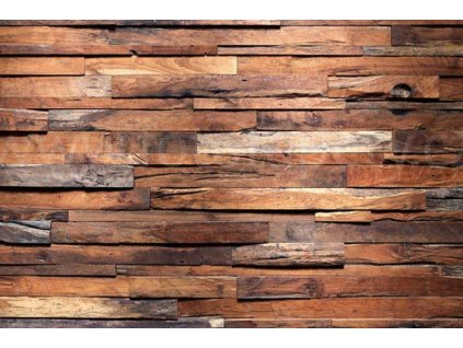 Pětidílná vliesová fototapeta Dřevěná zeď, rozměr 375x250cm, MS-5-0158
