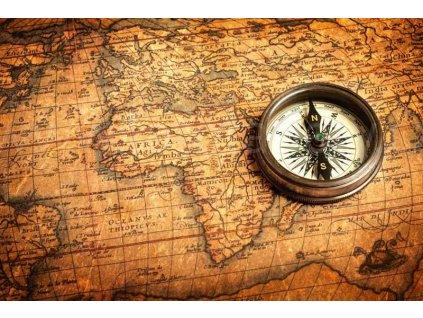 Pětidílná vliesová fototapeta Kompas, rozměr 375x250cm, MS-5-0264