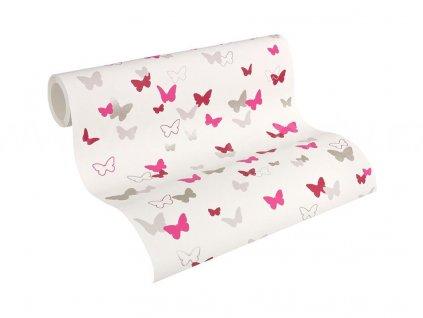 Vliesová tapeta na zeď Esprit Kids 5, 0,53x10,05m, 3028-92 - růžoví motýlci
