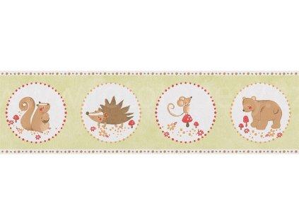 Papírová bordura na zeď Only borders 9 - Ježek, myška.., 17cmx5m, 3030-91