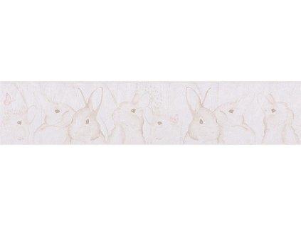 Papírová bordura na zeď Only borders 9 - Zajíčci, 13cmx5m, 3033-03