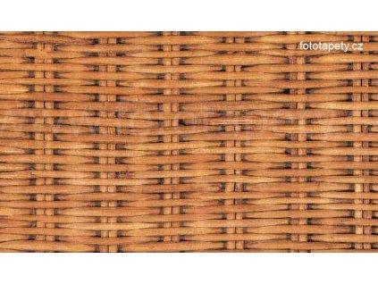 Samolepící tapeta - Proutěný koš - imitace přírodního materiálu