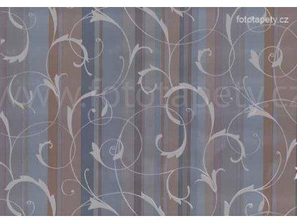 Samolepící fólie Decor, Scroll overprint bleu/grey
