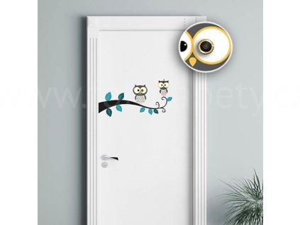 65111 sovy samolepka na dvere