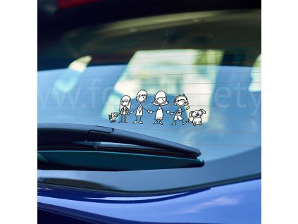 59001 rodina samolepka na sklo