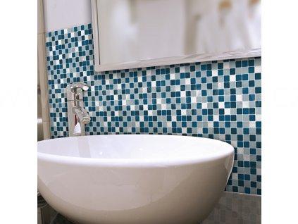 31218 modra mozaika samolepka na kachlicky