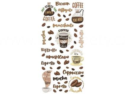 59607 kava coffee samolepky