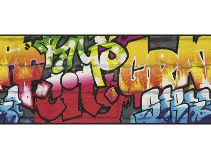 Papírová bordura na zeď Rasch 237900 - Graffiti, kolekce Kids & teens III 25cm x 5 m
