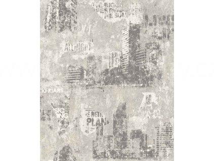 Vliesová tapeta na zeď Rasch 821208 - Město, kolekce Kids & teens III 0,53 x 10,05 m