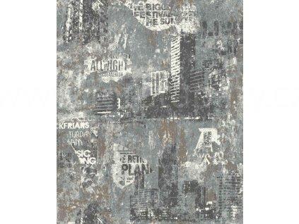 Vliesová tapeta na zeď Rasch 821215 - Město, kolekce Kids & teens III 0,53 x 10,05 m
