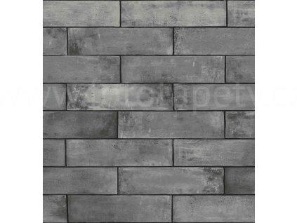 Dekorační obklad stěny - Šedé cihly