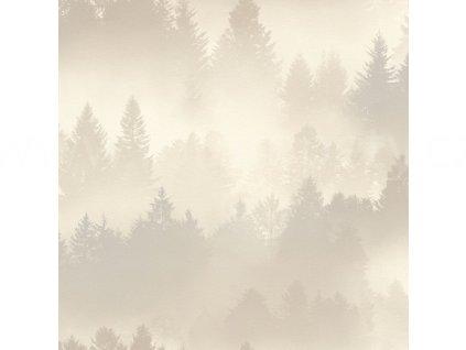 Vliesová tapeta na zeď Rasch 860825 - Béžové stromy v mlze, kolekce b.b home passion VI 0,53 x 10,05 m