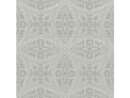 Vliesová tapeta na zeď Rasch 529708 - Stříbrné ornamenty, kolekce Berlin 0,53 x 10,05 m