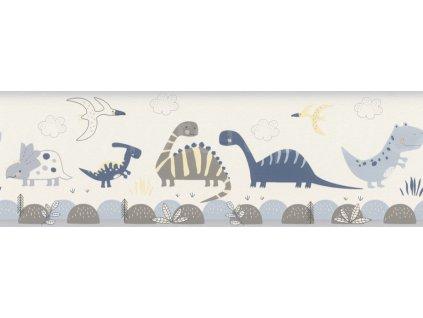 Papírová bordura na zeď Rasch 248869 - Dinosauři, kolekce Bambino XVIII 17,2 x 500 cm