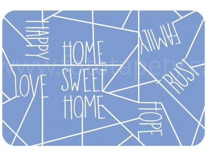 Prostírání na stůl - Sweet home - modrý, 44x29cm, 230-2538