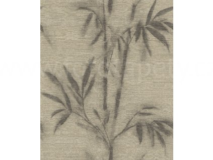 Vliesová tapeta na zeď Rasch 529159 - Hnědý bambus, kolekce Mandalay 0,53 x 10,05 m