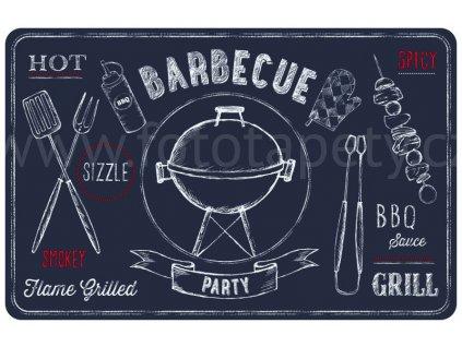 Prostírání na stůl - Barbecue šedé, 44x29cm, 230-2530