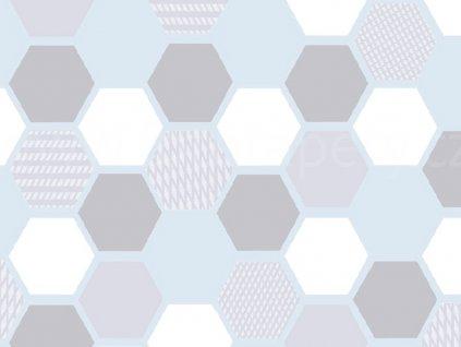 Transparentní folie na sklo 1-2-3 static Premium - Šestiúhelníky