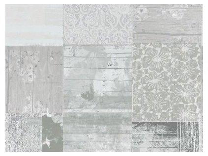 Samolepící dekorační fólie - Kachličky Vintage světle šedé