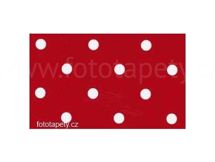 Samolepící fólie imitace Decor, Červené puntíky