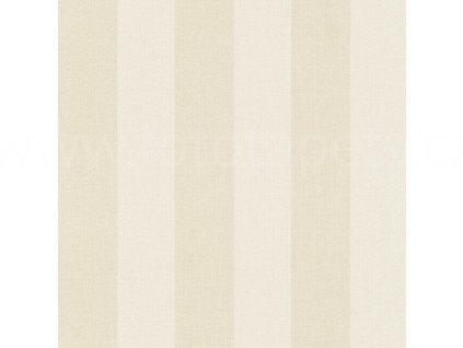 Vinylová tapeta na zeď Rasch - Krémové pruhy 424102, kolekce Poetry 0,53 x 10,05 m