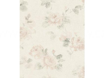 Vinylová tapeta na zeď Rasch 425611 - Růžové růže, kolekce Poetry 0,53 x 10,05 m