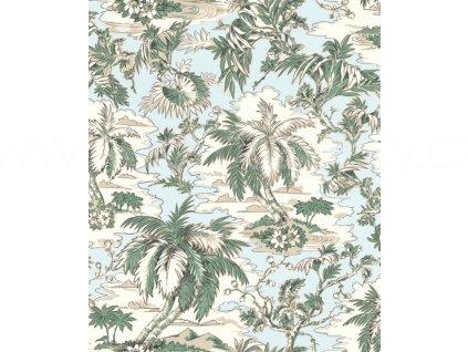 Vliesová tapeta na zeď Rasch 526158 - Zelené palmy, kolekce Vanity Fair II 0,53 x 10,05 m