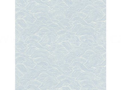 Vliesová tapeta na zeď Rasch 527148 - Modré vlny, kolekce Barbara 0,53 x 10,05 m