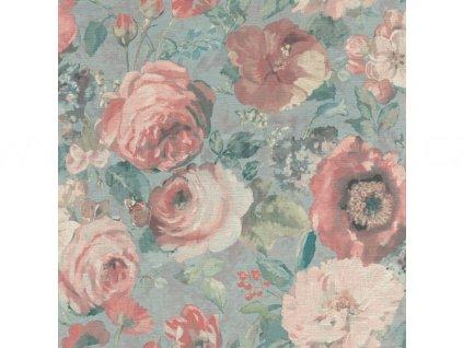 Vliesová tapeta na zeď Rasch 527858 - Červené divoké růže, kolekce Barbara 0,53 x 10,05 m
