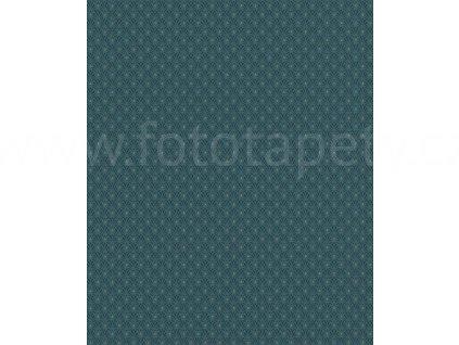 Vliesová tapeta na zeď Rasch 808445 - Modré ornamenty, kolekce Denzo 0,53 x 10,05 m