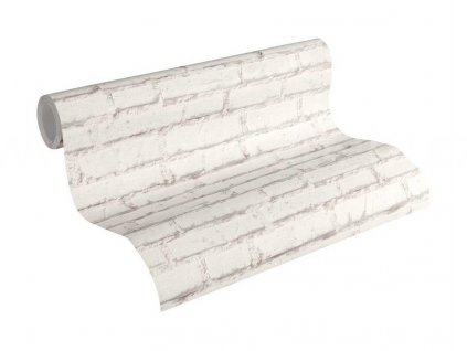 Vliesová tapeta na zeď Best of Wood & Stone 2, 3194-31 - bílá cihlová zeď