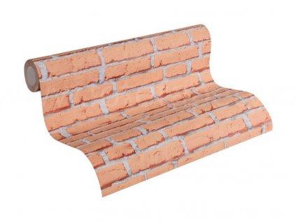 Vliesová tapeta na zeď Best of Wood & Stone 2, 3194-32 - červená cihlová zeď