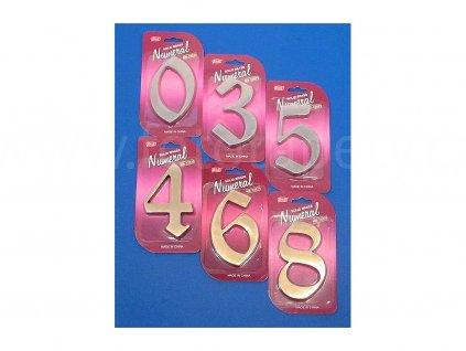 Čísla domovní, fasádní, BRONZ, 125mm (číslice číslice 0)
