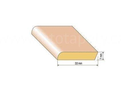 Dřevěná parketová lišta, 33x7 mm, buk (Varianta Buk 1 metr)