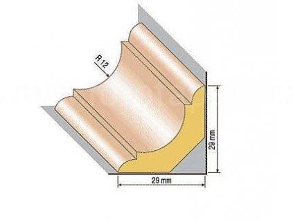 Dřevěná profilová lišta, 40, buk (Varianta Buk 1 metr)