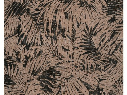 Vliesová tapeta na zeď Borneo, 0,53x10,05m, 3226-31 - hnědé palmové listy