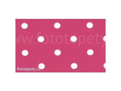 Samolepící fólie imitace Decor, Růžové puntíky