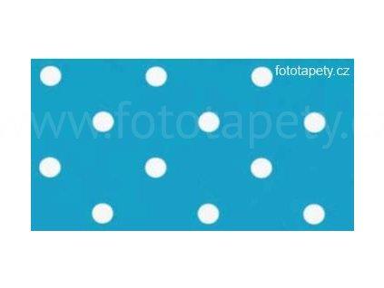 Samolepící fólie imitace Decor, Aqua puntíky