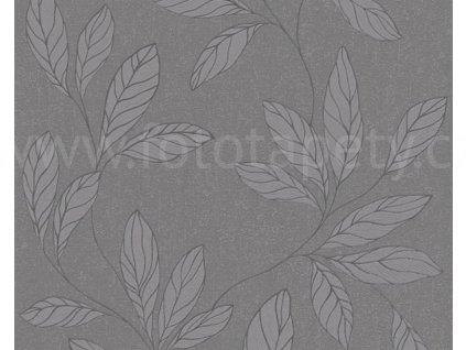 Vliesová tapeta na zeď Amory, 0,53x10,05m, 3242-16 - šedé listy