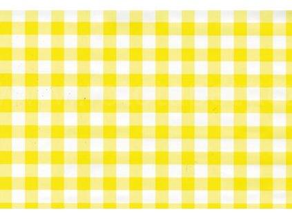 Samolepící fólie imitace Decor, Kostkovaný ubrus žlutý