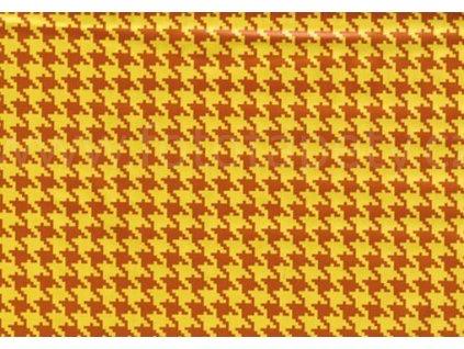Samolepící fólie imitace Decor, Kohoutí stopa oranžová
